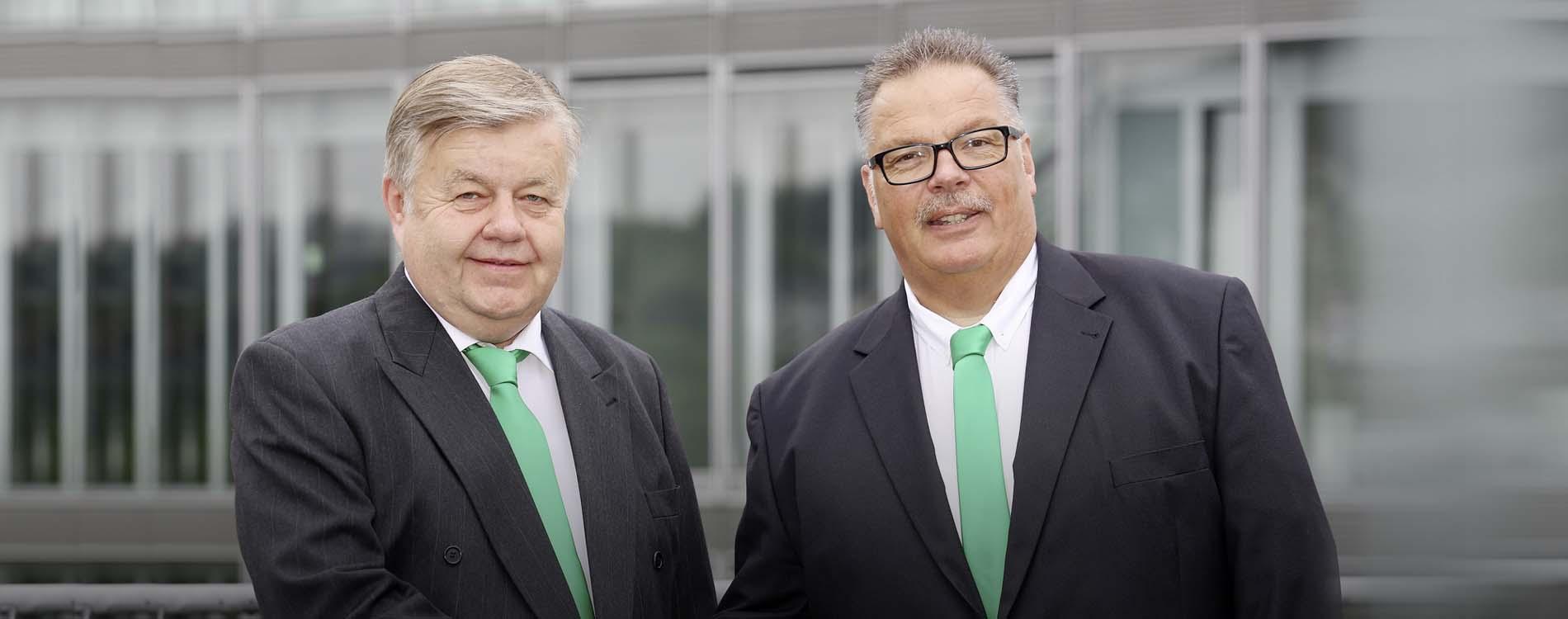 Dieter Acker und Lothar Schmidt, Geschäftsführende Gesellschafter